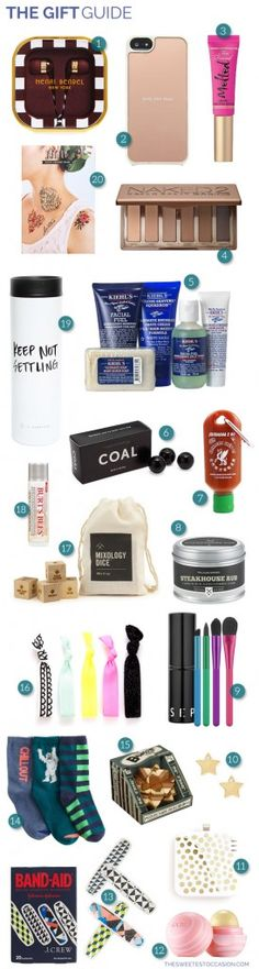 The Gift Guide: Stocking Stuffers via The Sweetest Occassion
