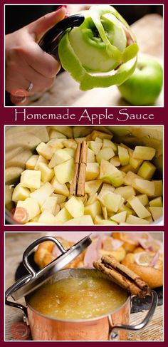 Homemade Apple Sauce is so easy to make and a great addition to so many recipes. You can make it just the way you like it, chunky or smooth, and choose how sweet you like it. Canned Applesauce, Homemade Applesauce, Applesauce Recipes, Fruit Recipes, Cooking Recipes, Healthy Recipes, Apple Recipes Dinner, Apple Puree For Baby, Easy Apple Sauce