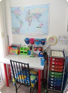 ... Organization on Pinterest   Homeschool, Home School Rooms and Kid Desk