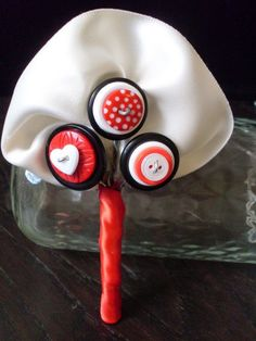 Red Button Boutonniere, Wedding,  Button Hole. $10.00, via Etsy.    #LOVEPOST