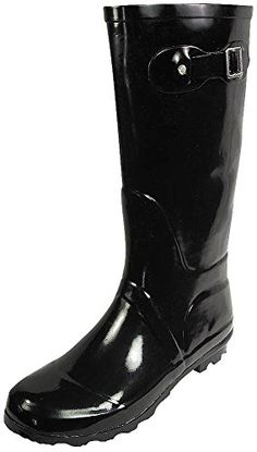 NORTY - Womens Hurricane Wellie Solid Gloss Hi-Calf Rainboot * Click on the image for additional details.