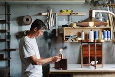 Stéphane Hubert designs and creates free-standing furniture and accessories from reclaimed, repurposed and sustainably sourced materials