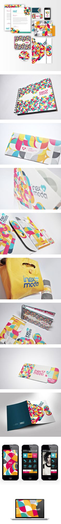 Cool Brand Identity Design. InexModa. #branding #brandidentity [http://www.pinterest.com/alfredchong/]