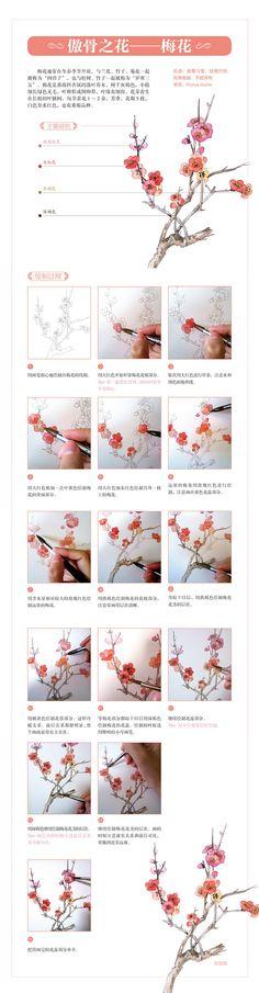 本案例摘自人民邮电出版社出版的《经典花语...@绘客采集到【水彩技法教程】(41图)_花瓣人文艺术