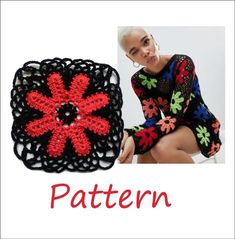 The plus size sweater pattern is easy for beginners. The pattern allows you to make long sleeve size 3XL v neck sweater. It includes:- three motif written instructions,- three motif charts,- the assembly diagrams,- the written and chartered tutorial on how to join motifs,- neck line edging tutorial.The pattern is suitable for plus size woman. #topforwomen #crochettoppattern #size3XL