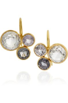 marie-helene de taillac gold spinel and topaz earrings