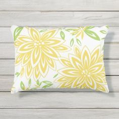 fabulous fashion and decor : Design Ideas for Outdoor Living Space White Lily Flower, White Lilies, Green Throw Pillows, Floral Pillows, Yellow Accessories, House Color Schemes, Pillow Texture, Pretty Green, Home Decor Shops