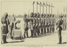 The Duke of Connaught in India, the Duke presenting Egyptian War Medals to the 13th Bengal lancers