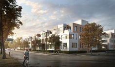 Rendering of the townhouses, image retrieved via submission to the City of Toronto