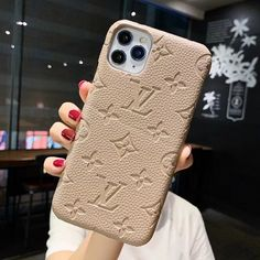 Louis Vuitton leather embossing IPhone case , best gift for Girls