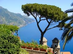 Picture of View of the Amalfi Coast from Villa Rufolo in Ravello, Italy stock photo, images and stock photography. Cheap Holiday, Next Holiday, Holiday Ideas, Best Holiday Packages, The Italian Job, Choice Hotels, Amalfi Coast, Vacation Destinations, Sun