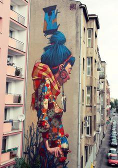 "Stunning Murals By ""Etam Cru"" Turn Boring Buildings Into Works Of Art (15 pics):  www.boredpanda.com/street-art-murals-etam-cru/  #streetart #urbanart #mural #beautiful"