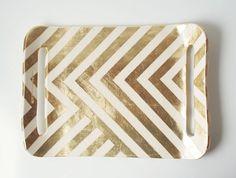 gold zigzag tray