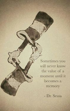 The value of a moment...
