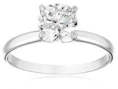 IGI Certified 18k White Gold Classic Round-Cut Diamond Engagement Ring (1.0 cttw, H-I Color, SI1-SI2 Clarity), Size 6 Amazon Collection http://www.amazon.com/dp/B005T7P0ZE/ref=cm_sw_r_pi_dp_RISRvb1CYYDXX