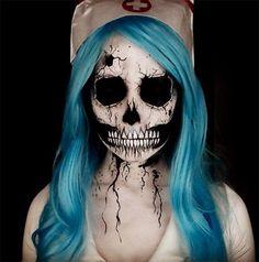 Creative Halloween Makeup Ideas: Skull Halloween Makeup