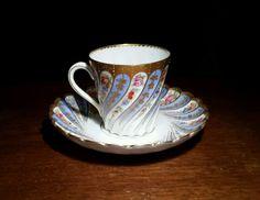 Stunning Antique Handpainted Dresden Demitasse cup & saucer in Antiques, Decorative Arts, Ceramics & Porcelain | eBay