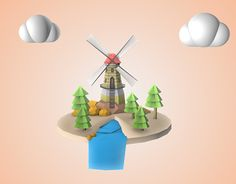 """Check out new work on my @Behance portfolio: """"Low Poly nature 1"""" http://on.be.net/1MgbolF"""