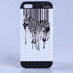This phone case is another cool take on the dripping paint I liked from the watercolor designs. The zebra here looks more solid, and the stark contrast of black on white makes the design pop. The paint looks almost as if it filling in the stripes on the zebra and then melting away, almost as if there's a zebra mold that is overflowing. This is possibly a more practical take on the paint design than the water color one?