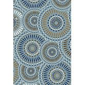 Found it at Wayfair - Tributary Lizbeth Blue Outdoor Area Rug