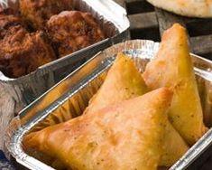 Samoussas au poulet et au curry