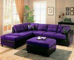 Purple Living Room ~ Oh my, yes pleaseeeeeeee I have a purple ...