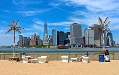 Water Taxi Beach on Governors Island, NYC