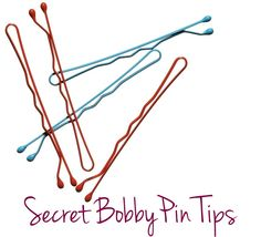 I've never been able to use a Bobby Pin! thank you to who ever pined this in the first place!!!! Secret Bobby Pin Tricks- Must Try!  #MooreHairDesign