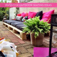 Great Pallet Recycling ideas  Eye Candy: Creative Outdoor Seating Ideas