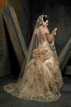 St Pucchi Couture style 9301 back w veil  Click the pic for more view of this dress.