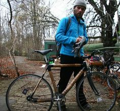Elias was one of our first workshop customers and has been riding his bamboo bike since early 2013