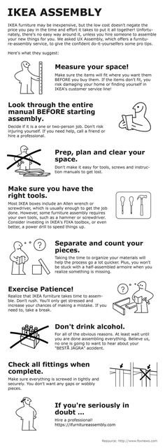 Useful tips from IKEA furniture assembly services professi. - Ikea DIY - The best IKEA hacks all in one place Unicorn Coloring Pages, Best Ikea, Furniture Assembly, Ikea Furniture, Ikea Hack, Helpful Hints, How To Plan, Tips