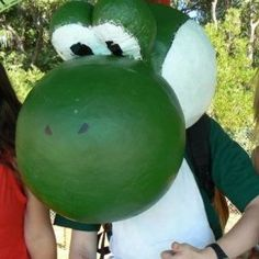 For Halloween This will be my head. I will use paper mâché to make the head. I hope I will look like Yoshi.