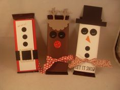 Hershey Chocolate Bars decorated for the holidays. www.eileenlang.stampinup.net Images © Stampin' Up!