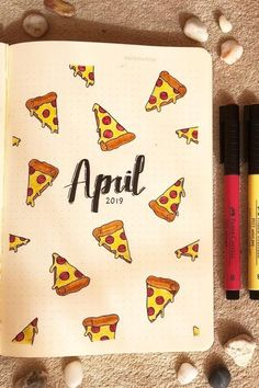 Bullet Journal Monthly Cover Ideas For April 2020 - Crazy Laura - - Are you starting a new month in your bullet journal and need some theme inspiration? These super cute April monthly cover ideas will help you get started! Bullet Journal School, Bullet Journal Inspo, Bullet Journal Tracker Ideas, April Bullet Journal, Bullet Journal Cover Ideas, Bullet Journal Banner, Bullet Journal Notebook, Bullet Journal Aesthetic, Bullet Journal Layout