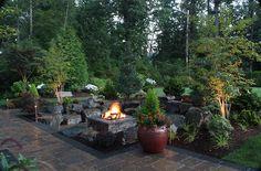 Custom Outdoor Fire Pits - Gallery   Alderwood Landscaping