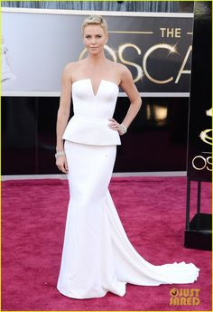Charlize Theron in Dior at Oscars 2013
