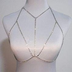 Body Chain Jewelry, Cute Jewelry, Body Chain Outfit, Diy Body Chain, Jóias Body Chains, Body Chain Harness, Rhinestone Bra, Shoulder Necklace, Turquoise Jewelry