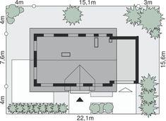 Sytuacja Dom przy Alabastrowej 2 CE Malm, Design Case, Floor Plans, Home Decor, House Ideas, Houses, Manualidades, Build House, Decoration Home