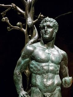 Herakles with the Apples of the Hesperides Roman 1st century CE from a temple at Byblos Lebanon (2)