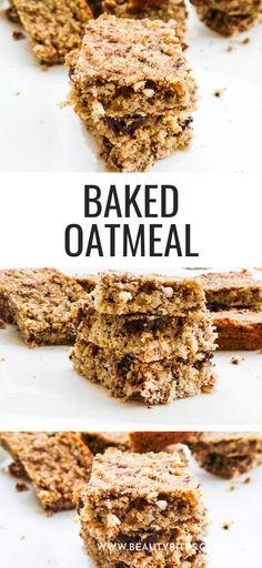 Breakfast Bars Healthy, Breakfast Cake, Breakfast Ideas, Clean Eating Recipes For Weight Loss, Clean Eating Recipes For Dinner, Vegan Baked Oatmeal, Easy Family Meals, Family Recipes, Clean Eating Vegetarian