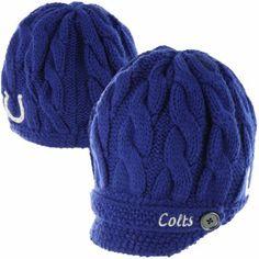 '47 Brand Indianapolis Colts Ladies Sky Box Knit Beanie - Royal Blue - FansEdge.com