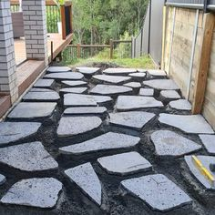 The start of a mini sideway renovation with some design savy paving options. This side will feature miniature Mondo in the negative spaces. Stay tuned for the finish of this Lava Stepping Stone area and the second sideway design. #goldcoastlife #goldcoast #goldcoastlandscaping #paving #landscapedesign #maudsland Negative Space, Gold Coast, Stay Tuned, Lava, Stepping Stones, Landscape Design, Landscaping, Miniatures, Spaces