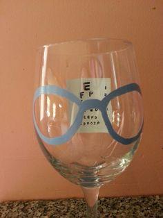 Optometrist wine glass gift