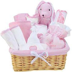 Trend Lab® Pink 12-pc. Baby Gift Basket Set  $60