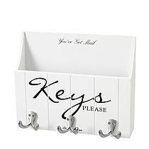 Riviera Maison sleutelrek Keys Please Wit/Zwart/Zilver