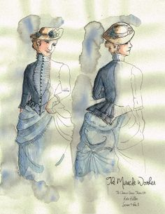 The Miracle Worker (Kate Keller). Costume design by Joscelyne Oktabetz. The Miracle Worker, Costume Design Sketch, Theatre Costumes, Opera, Sketches, Film, Brown, Inspiration, Art