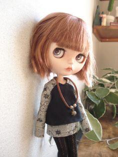 ◆ ブライスちゃん Outfit Aラインカットソー&ミニスカート 4点セット ◆