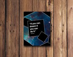 If you can dream it you can do it Quote by Walt Disney by PrintsLM