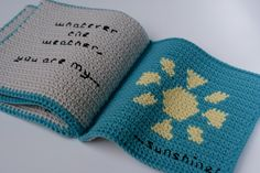 """Instant Download Crochet Pattern """"What is the weather today?"""" baby soft book.Make a beautiful baby gift book to talk about weather, suitable for babies and toddlers.Inspired by my desire to see children reading from an early age, this book has been designed to help stimulate conversation with it's bright pictures. It is never too early to introduce a baby to books and this one is ideal to enjoy together, washable, baby safe and fun.The pattern includes full colour charts to make..."""